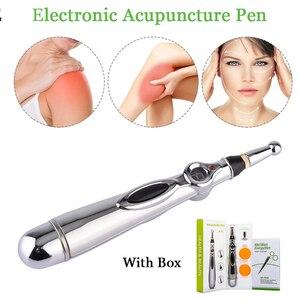Image 5 - Lápiz láser de acupuntura para masaje corporal, estimulador de acupuntura por láser, lápiz energético para aliviar el dolor
