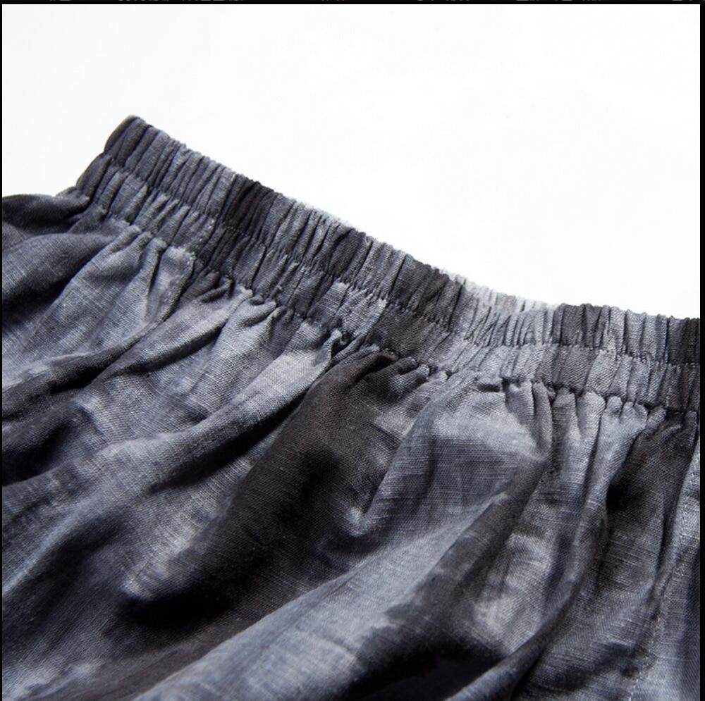 Grande Chanteur Pantalon Mode Lâche Lin Costumes Tout En Taille allumette Décontracté Impression 2019 Nouvelle Navy Bas Large 1zx6nBx