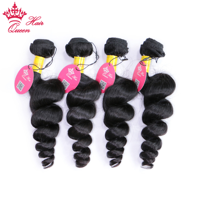 Peruvian Virgin Hair Loose Wave 4 Bundles Thick Human Hair Weave
