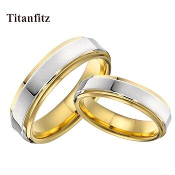 683d20320ebf Alianza aniversario compromiso titanio Acero inoxidable joyería anillo  hombres promesa boda pareja anillos para mujer