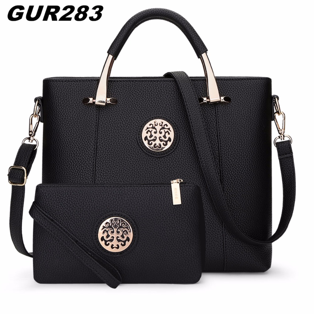 2017 Luxury Women Leather Handbags Set Designer Handbag High Quality Big Shoulder Bag Famous Brand Tote Ladies Hand Bags women bag set high quality tote bag