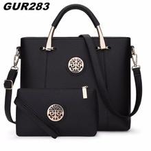 2017 Luxury Women Leather Handbags Set Designer Handbag High Quality Big Shoulder Bag Famous Brand Tote Ladies Hand Bags