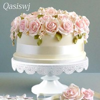 30cm Lace Wrapper cake stand metal cupcake tools wedding table candy decor home bakeware Kitchen,Dining & bar accessorries