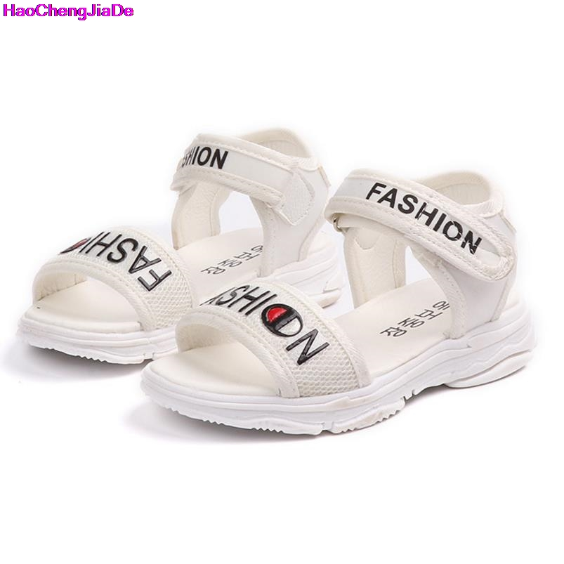 HaoChengJiaDe Girls Boys Sandals Children Shoes Solid Soft Sports Sandals Kids Shoes Baby Beach Sandals For Kids Shoes