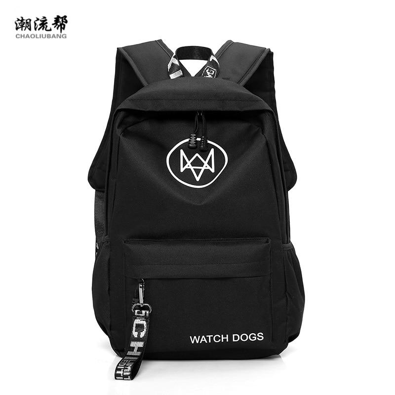 CHAO LIU BANG Nylon Print Backpack Mens 15 inch Laptop Backpack for Teenager Men Men Mochila Casual Travel Bag Girls Travel Bag