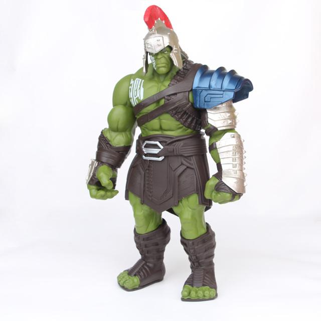 35cm Big Size Avengers Marvel Thor 3 Ragnarok Hands Moveable War Hammer Battle Axe Gladiator Hulk BJD Action Figure Model Toy