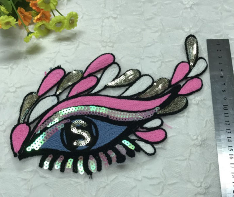 eye sequins patches for clothes 3