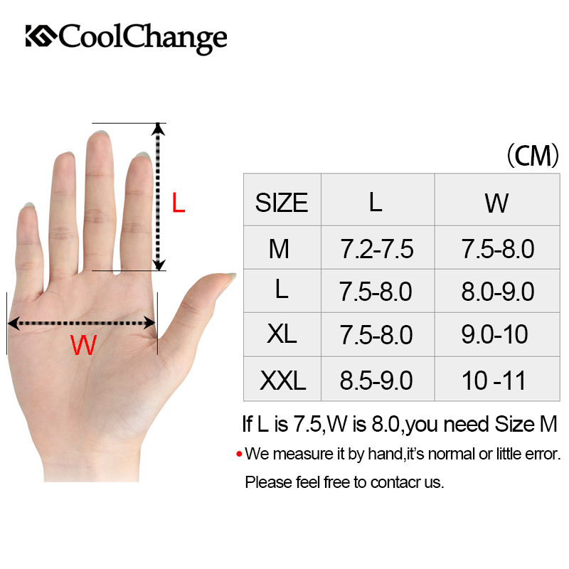 Coolchange Cycling-Gloves Motorcycle Winter Full-Finger Touch-Screen-Gel MTB Riding Sport