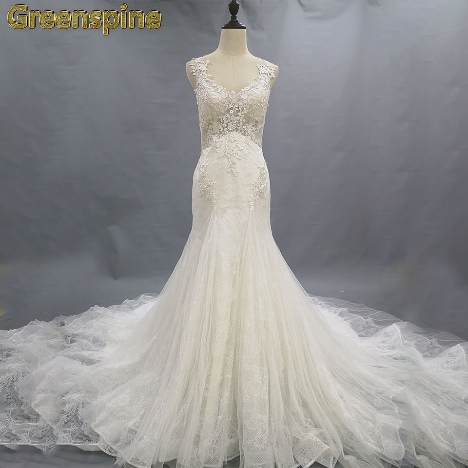 Lace Wedding Gowns With Straps: Aliexpress.com : Buy Lace Applique Wedding Dresses