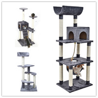 Domestic Delivery Cat Furniture Wood Product Scratching Post Stairs Cat Playing Funny Climbing Frame Kitten House Jumping Toy