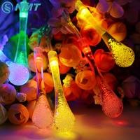 30 LED Bulbs Solar Powered Ball String Light Outdoor Festival Wedding Christmas Garden Home Store Deco