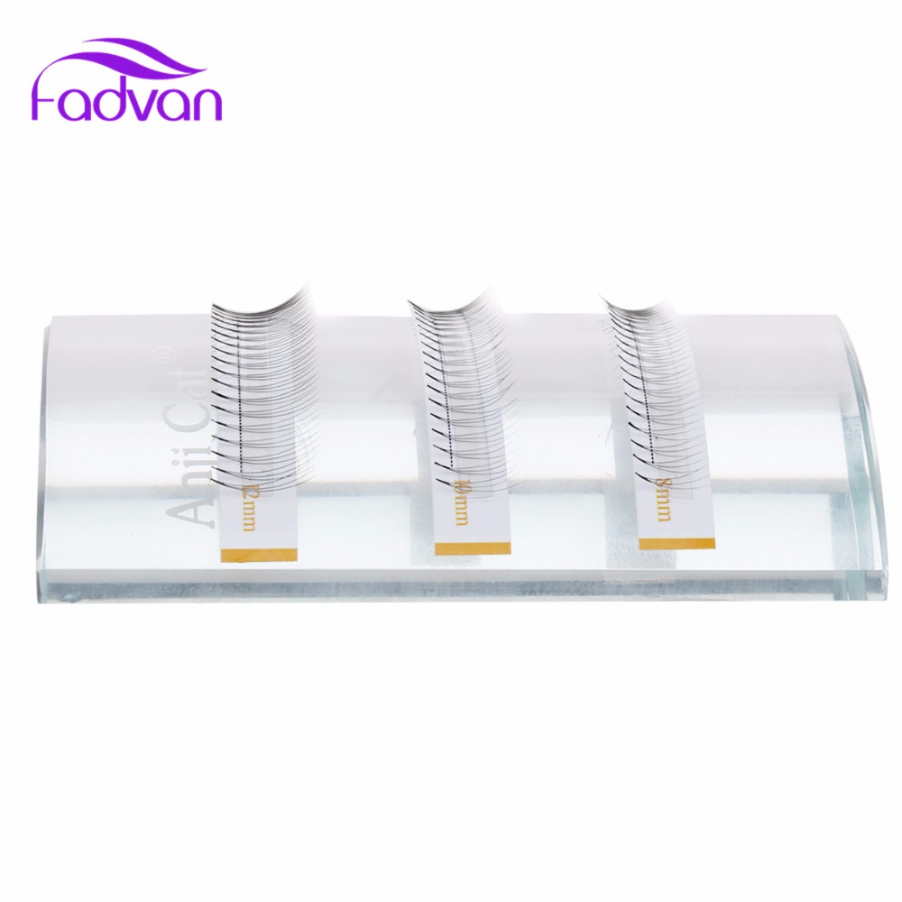 2 Box Lot 3D 5D Individual Eyelashes Mix Extension False Lashes Tools Individual Eyelashes Faux Mink Silk Eye Lash Tools FADVAN in False Eyelashes from Beauty Health