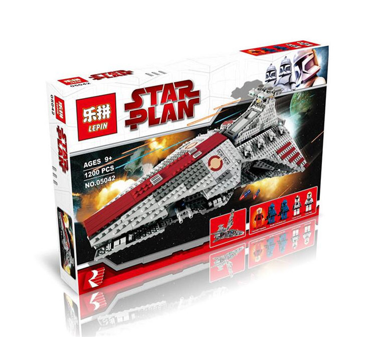 Lepin 05042 New Star War Series The Republic Fighting Cruiser Set Building Blocks Bricks Educational Toys 8039 ACTUALS herbert george wells the war of the worlds