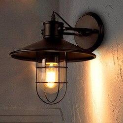 Świetlny dom restauracja Loft Vintage kinkiet przemysłowy sypialnia nocna amerykański odkryty balkon magazyn kinkiety GY263