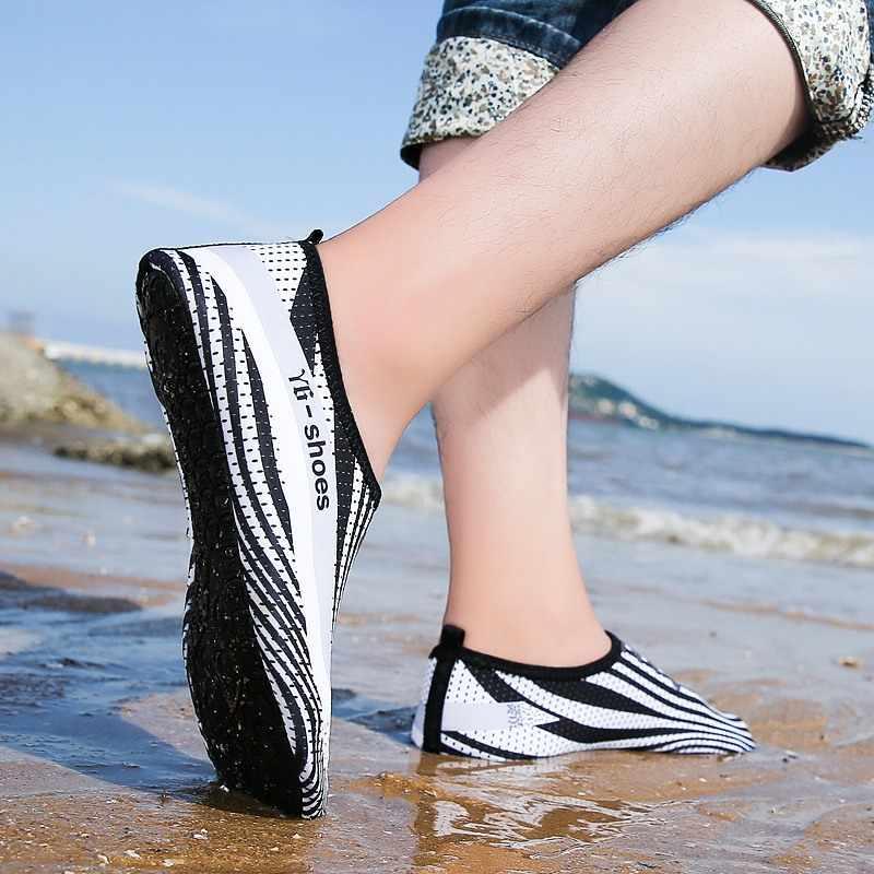 Zuoxiangru Mannen Vrouwen Outdoor Strand Trekking Schoenen Water Schoenen Aqua Zwemmen Schoenen Unisex Platte Schoenen Maat 35-44