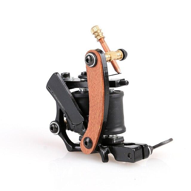 New Style Handmade Mini Casting Iron Tattoo Art Supply 10 Coils Tattoo Machine Gun Shader in Good Quantity TM8347