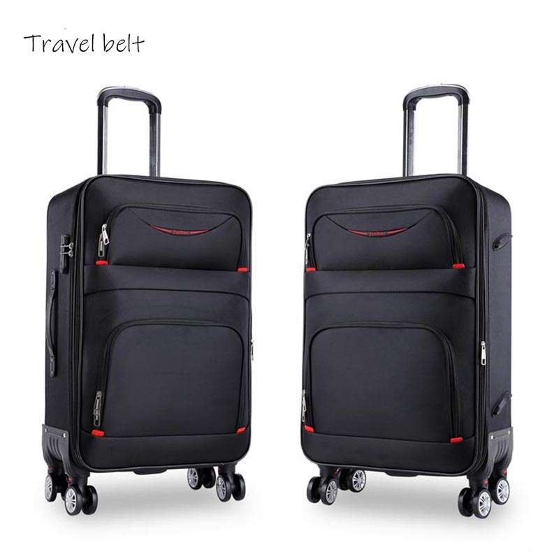 high quality waterproof Oxford Rolling Luggage Spinner men Business Brand Suitcase Wheels 20 inch Cabin Trolley