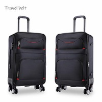 high quality waterproof Oxford Rolling Luggage Spinner men Business Brand Suitcase Wheels 20 inch Cabin Trolley High capacity
