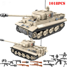 Military World War II Tiger Tank Building Blocks DIY City WW2 Technic Army Figures Weapon Bricks Educational Toys For Children(China)
