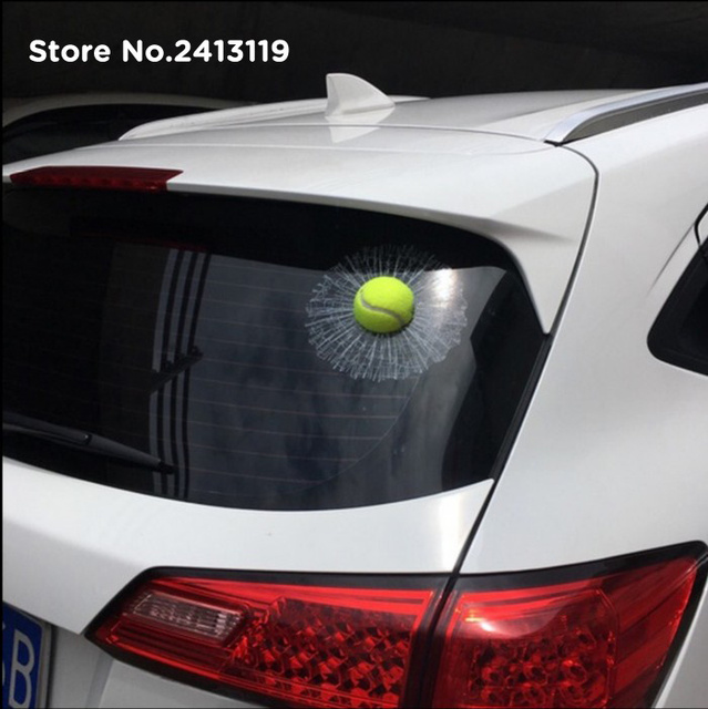 3d car stickers funny auto ball hits car body window sticker for audi rs6 a8 sq5