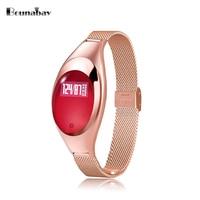 BOUNABAY touch screen bluetooth Bracelet watch for women original ladies waterproof ios Android phone women clock watches clocks