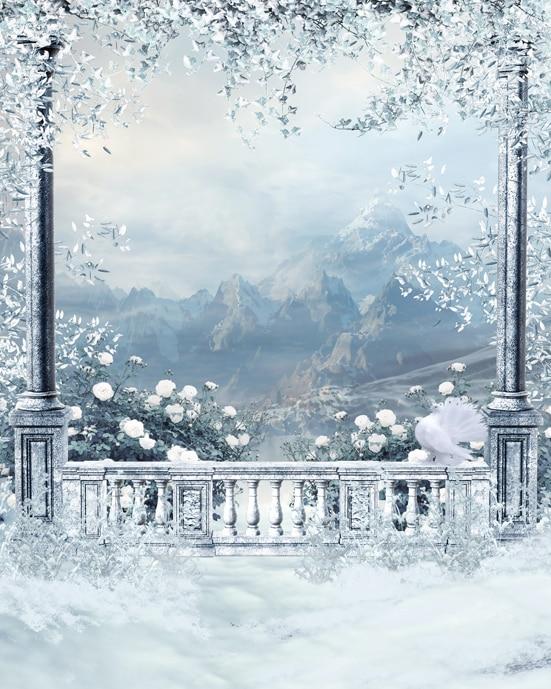 Fantasy Snow Mountain Outdoor 5x7ft Christmas Background Photo Studio Props Vinyl Backgrounds Photography Backdrops виктория угрюмова серия азбука fantasy русская fantasy комплект из 7 книг