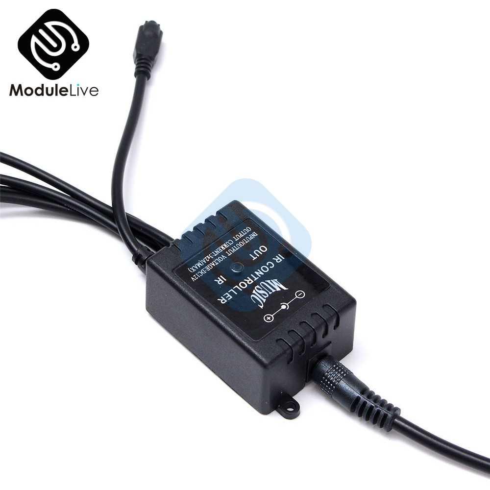 Couleur automatique d'interni rvb 9 kit de bande LED contrôleur automatique de contrôle de musique sans fil 7 couleurs pour l'atmosphère