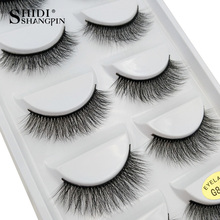 SHIDISHANGPIN natural long lashes 1 box makeup false eyelashes 3d mink eyelash extension hand made