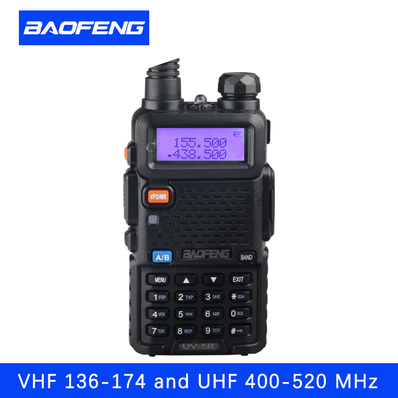 Портативная рация Baofeng UV5R ветчиной двухстороннее Радио портативная рация двухдиапазонный трансивер (черный)
