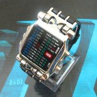 2010 Hot New LED Light Fashion Dot Matrix Digital Mens WATCH NR Freeship