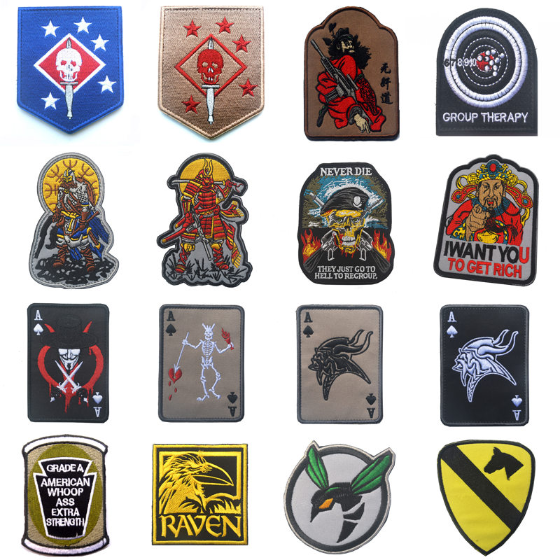 Outdoor Tactical Emblem 100% Embroidered Five-star Eagle Head Spartan Helmet Cloth With Epaulettes Badge Patches Patch Badges 2019 New Fashion Style Online Home & Garden