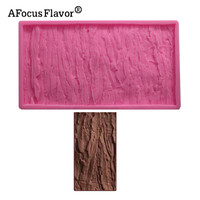 1pcs Tree Bark Texture Lace Pattern Fondant Cake Soap Clay Silicone Mold Cooking Baking Handmade DIY