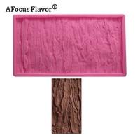1pcs Tree Bark Texture Lace Pattern Fondant Cake Soap Clay Silicone Mold Cooking Baking Handmade DIY