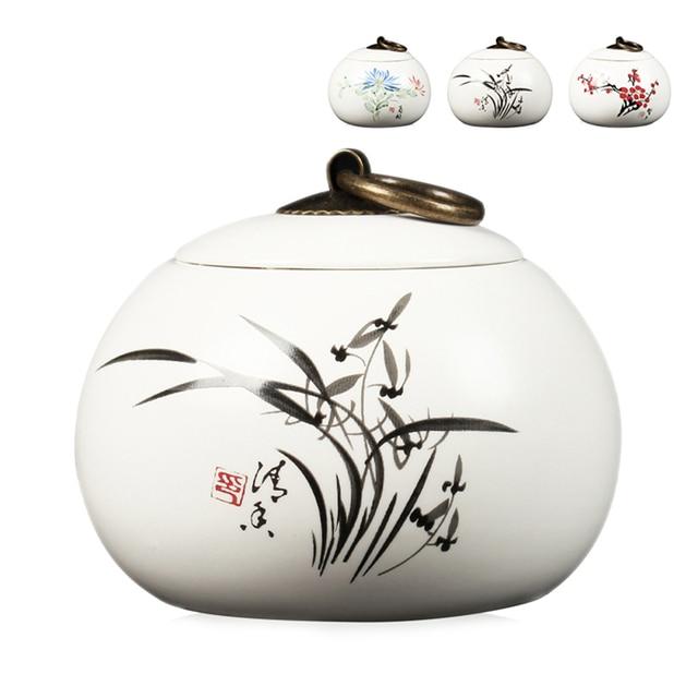 111    2018 China Storage Bottles High-grade ceramic tea canister Gift storage jar Tea caddy Sugar Bowl Salt shaker storage tank