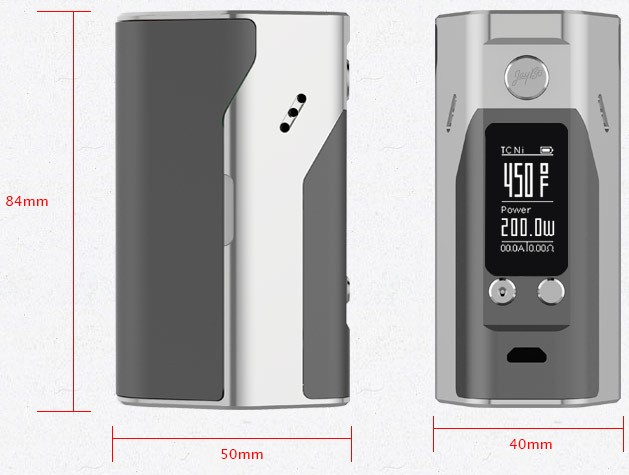 100% Original Wismec Reuleaux RX200S TC 200W OLED Screen Box Mod with Upgradeable Firmware Reuleaux RX200S-4