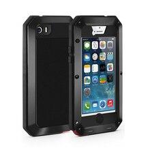גוף מלא מגן כיסוי עבור iPhone 7 בתוספת מקרה 360 קשה עמיד הלם שריון אלומיניום מתכת מקרה עבור iPhone 8 בתוספת גורילה גלאס