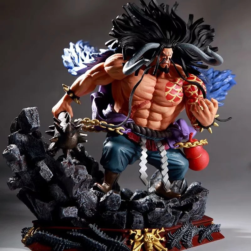 19cm Japan One Piece Four Emperors Kaido PVC Action Figures Collection Model Toys Gifts for Christmas