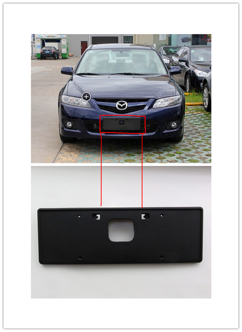for mazda 6 2006 2015 licence holder coupe m6 front license plate frame license plate frame backing base