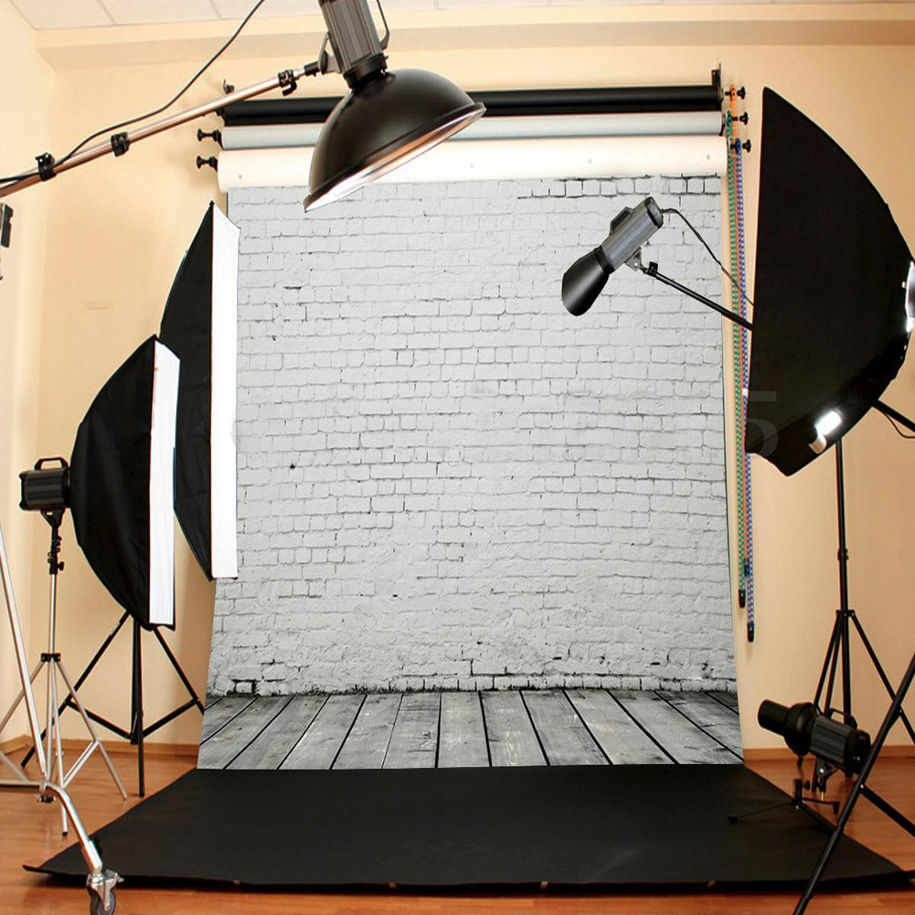 3x5ft 5x7ft Brand Waterproof Vinyl Brick Wall Floor Photo Studio Photography Baby Children Backdrop Background Props Cloth