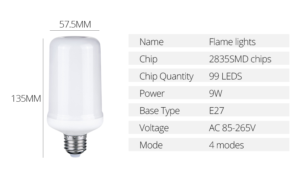 LED Flame lamps (3)