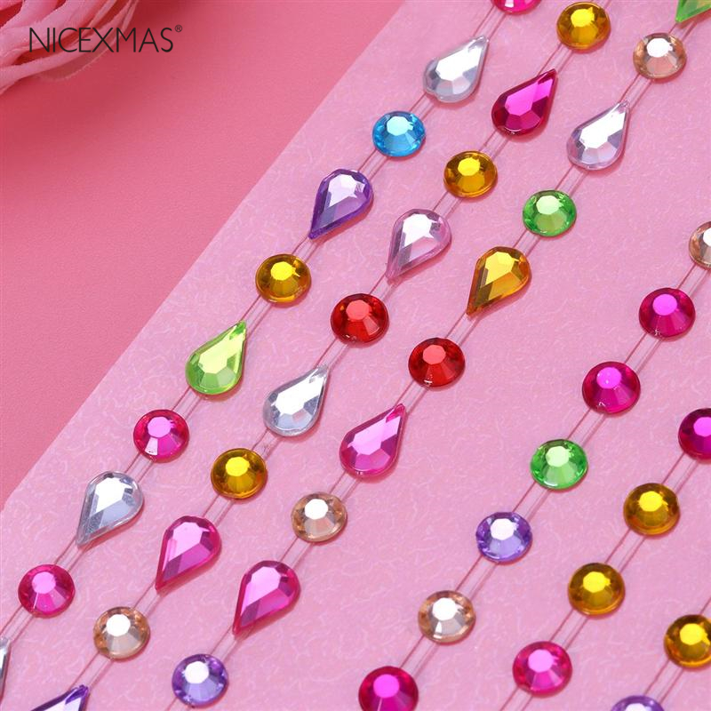Self-Adhesive Rhinestone Sticker Bling Craft Jewels Crystal Gem Stickers Craft Toys DIY Birthday For Kids (Water Drop)