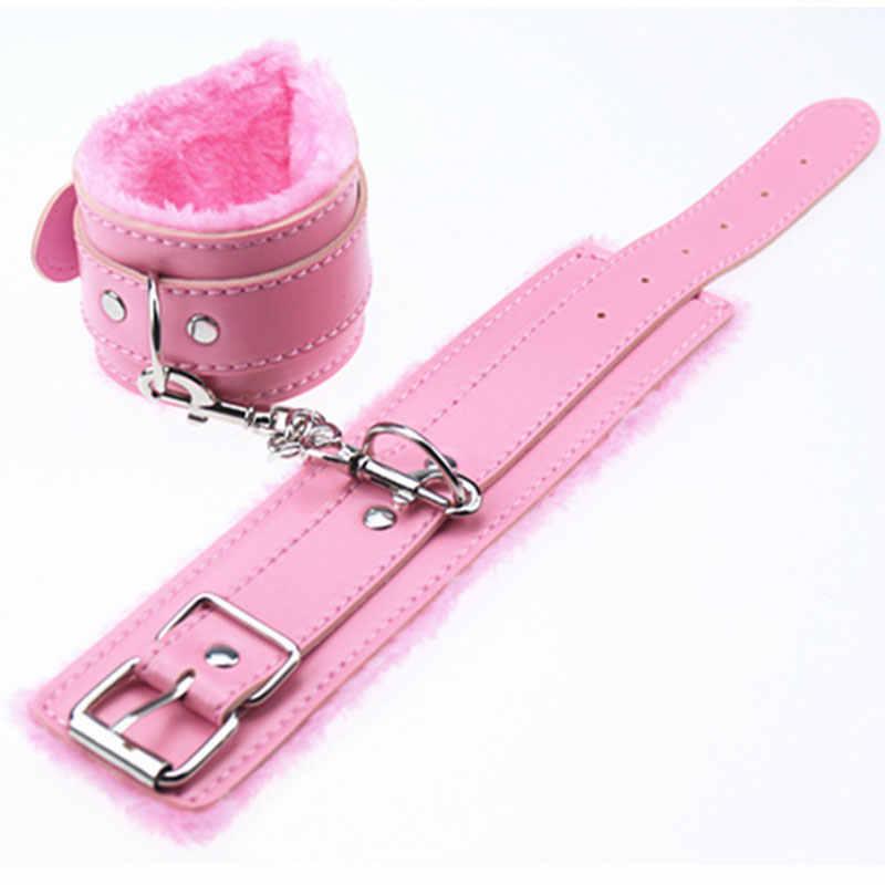 Yuechao мягкий PU кожаный наручник запястья кольцо на лодыжки для эротических ограничителей бондаж секс-товары секс-игрушки инструменты для костюма
