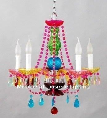 Hot seller multi color crystal chandelier kids bedroom small hot seller multi color crystal chandelier kids bedroom small lighting 5 lamps arm mozeypictures Image collections