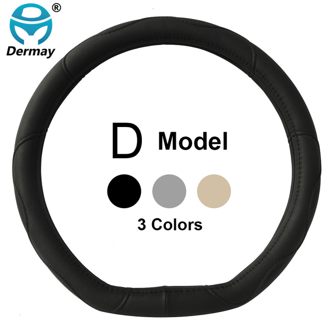 D Ring Car Steering Wheel Cover Leather For Volkswagen VW Golf 7 GTi Mk7 Golf7 Scirocco Sagitar Lavida Polo 2015 Car Accessories