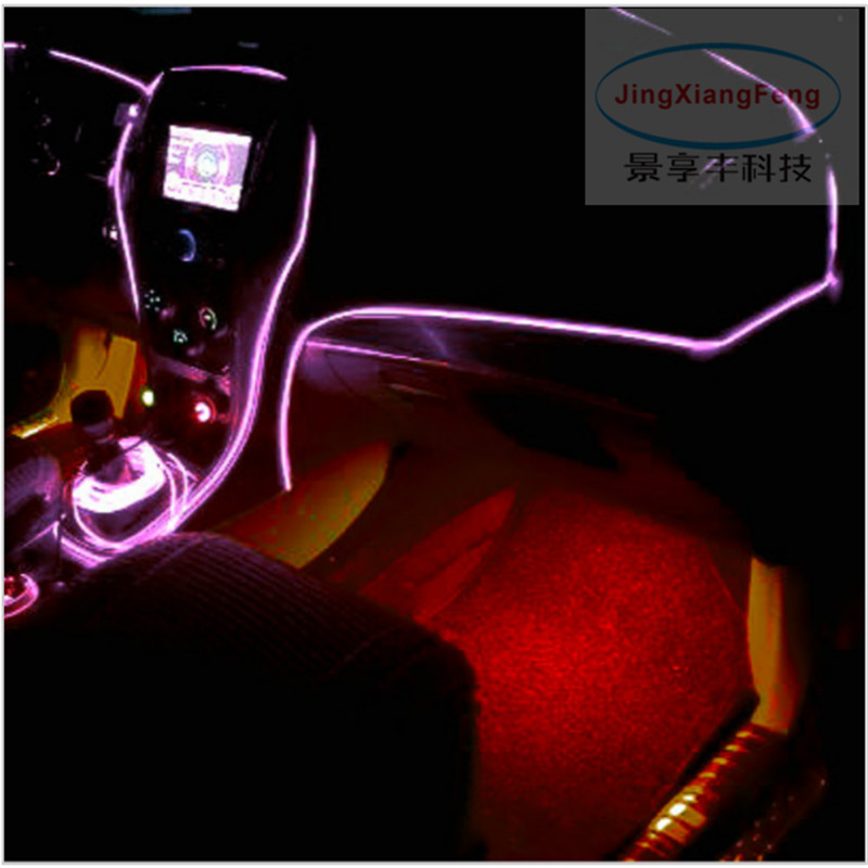 JingXiangFeng Newest DIY EL Wire Case For Skoda Rapid / Superb B5 B6 B8  Car Decoration Cold Light Atmosphere Lamp / 1 Meter