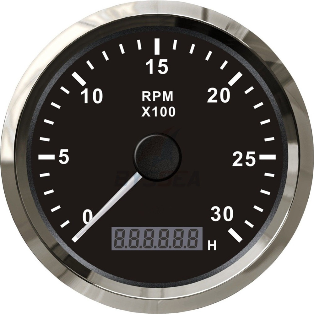 1pc 100% Brand New 85mm Tachometers Gauges Revolution Meters 0-3000RPM for Yacht Speed Boat Auto Truck Black Color 85mm 33 meters 0 08mm single side high