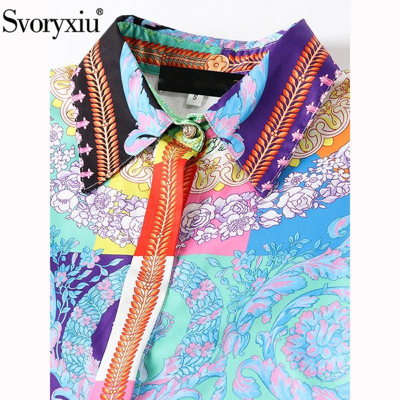 Vintage Pista De Gran Vestdios Las Impreso Colorido Otoño Vestidos Mujeres Svoryxiu Multiple Calidad Tamaño Alta Vestido Moda Midi 7SwpaAOxq5