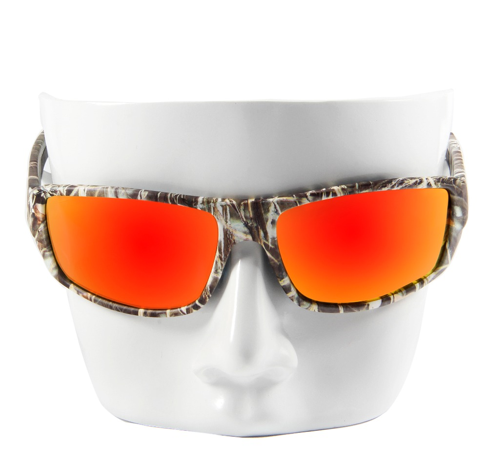 QUESHARK Men Camouflage Frame Polarized Sunglasses Sports Camo ...