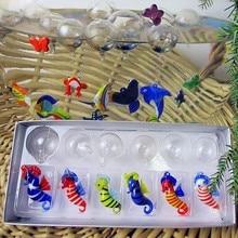 Manufacturers custom, hand blown glass handicraft aquarium float fish small hippocampal sculpture decoration