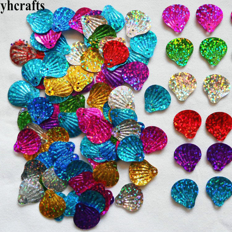 20Gram/LOT.Mix Color Shell Sequins Lacing Sequin Handmade Accessories Kids Diy Sequin Crafts,DIY Material Kindergarten Toys OEM